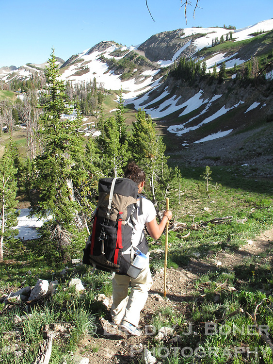 Hike to Turquoise Lake in Gros Ventre Wilderness
