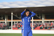 Mohammad Gadir of Israel (6) misses a great chance during the UEFA European Under 17 Championship 2018 match between Israel and Italy at St George's Park National Football Centre, Burton-Upon-Trent, United Kingdom on 10 May 2018. Picture by Mick Haynes.