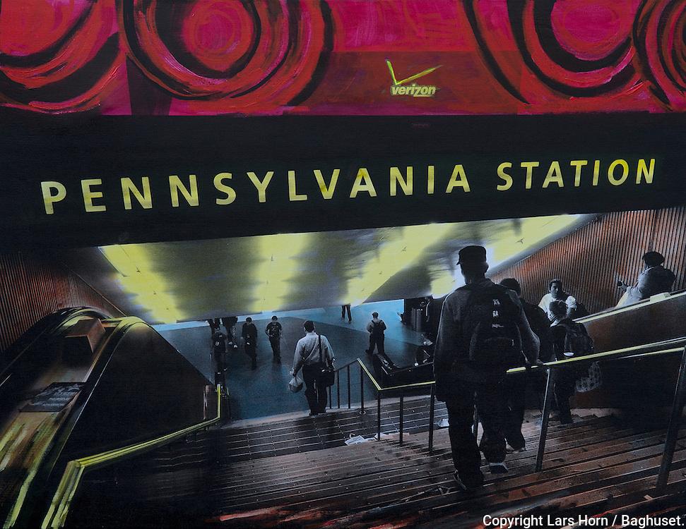 NYC in Colors  Horn / Andersen<br /> Pen Station<br /> 100x130 cm    pris kr. 12.500,- <br /> Dato: 23.11.13<br /> Foto:  Lars Horn / Baghuset