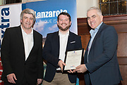 NO FEE PICTURES                                                                                                                                                                  24/1/20 Eoghan Corry, Travel Extra with at the Travel Extra Travel Journalist of the Year Awards at Thomas Prior House, Ballsbridge at a ceremony to coincide with the annual Holiday World Show in the RDS Simmonscourt in Dublin. Picture: Arthur Carron