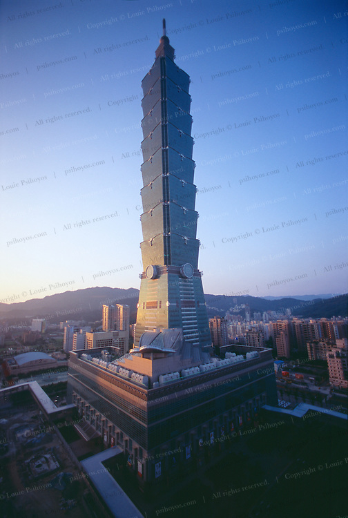 Taipei 101, the world's new tallest building, stands at 1,671 feet.