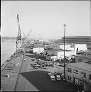 """ackroyd-P067-15 """"Port of Portland. S. S. Illinois Ship Repair. March 18, 1965"""" (at Swan Island. NW Marine Iron Works building is at 6000 N. Lagoon)"""