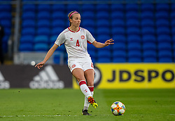 CARDIFF, WALES - Tuesday, April 13, 2021: Denmark's Rikke Læntver Sevecke during a Women's International Friendly match between Wales and Denmark at the Cardiff City Stadium. (Pic by David Rawcliffe/Propaganda)