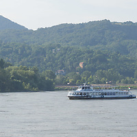 Passenger boat is in the bend of River Danube after the ease of the COVID-19 restrictions near Nagymaros, Hungary on June 29, 2020. ATTILA VOLGYI