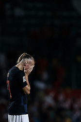 September 11, 2018 - Elche, Alicante, Spain - Domagoj Vida of Croatia reacts during the UEFA Nations League A group four match between Spain and Croatia at Manuel Martinez Valero on September 11, 2018 in Elche, Spain  (Credit Image: © David Aliaga/NurPhoto/ZUMA Press)