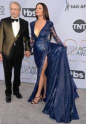 25th Annual Screen Actors Guild Awards - Arrivals. 27 Jan 2019 Pictured: Catherine Zeta-Jones, Michael Douglas. Photo credit: MEGA TheMegaAgency.com +1 888 505 6342