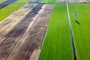 Nederland, Overijssel, Dedemsvaart, 01-05-2013; Scholtenwijk (voormalig veengebied), ten oosten van Dedemsvaart.<br /> Former peat extreaction area.<br /> <br /> luchtfoto (toeslag op standard tarieven);<br /> aerial photo (additional fee required);<br /> copyright foto/photo Siebe Swart