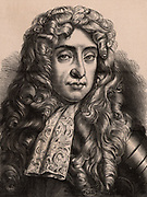 James II (1633-1701) king of Great Britain and Ireland 1685-1688. Son of Charles I and brother to Charles II. The last Roman Catholic king of England, he fled to France after William of Orange (William III) landed at Torbay. A member of the Stuart dynasty.