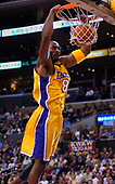 NBA-Seattle SuperSonics at Los Angeles Lakers-Jan 7, 2003