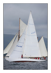 The final day of racing of the Fife Regatta on the King's Course North of Great Cumbrae<br /> <br /> Sonata, Patrick  Caiger-Smith, GBR, Bermudan Sloop, Wm Fife 3rd, 1950<br /> <br /> * The William Fife designed Yachts return to the birthplace of these historic yachts, the Scotland's pre-eminent yacht designer and builder for the 4th Fife Regatta on the Clyde 28th June–5th July 2013<br /> <br /> More information is available on the website: www.fiferegatta.com