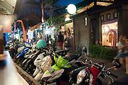 Food district at night, Ubud, Bali