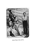 Bushmen Children From the book '  Specimens of Bushman folklore ' by Bleek, W. H. I. (Wilhelm Heinrich Immanuel), Lloyd, Lucy Catherine, Theal, George McCall, 1837-1919 Published in London by  G. Allen & Company, ltd. in 1911. The San peoples (also Saan), or Bushmen, are members of various Khoe, Tuu, or Kx'a-speaking indigenous hunter-gatherer groups that are the first nations of Southern Africa, and whose territories span Botswana, Namibia, Angola, Zambia, Zimbabwe, Lesotho and South Africa.