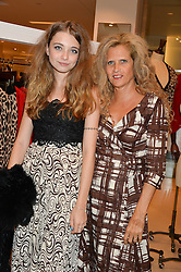 MATILDA WYAN and her mother SUZANNE WYMAN at the launch of the 'Jasmine for Jaeger' fashion collection by Jasmine Guinness for fashion label Jaeger held at Fenwick's, Bond Street, London on 9th September 2015.