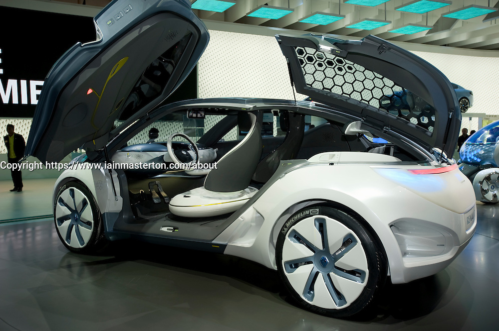 Concept Zoe ZE electric car by Renault on display at Frankfurt Motor Show 2009