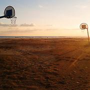Basket court. Vilanova i la Geltrú.Barcelonba province.Spain.