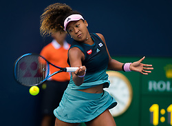 March 23, 2019 - Miami, FLORIDA, USA - Naomi Osaka of Japan in action during her third-round match at the 2019 Miami Open WTA Premier Mandatory tennis tournament (Credit Image: © AFP7 via ZUMA Wire)