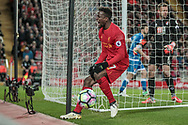Divock Origi (Liverpool) shouts as he misses a good chance to put Liverpool back into the lead with seconds on the clock during the Premier League match between Liverpool and Bournemouth at Anfield, Liverpool, England on 5 April 2017. Photo by Mark P Doherty.