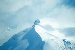 Looking into the Crater of Mt. St. Helens in Winter, Mt. St. Helens National Volcanic Monument, Washington, US
