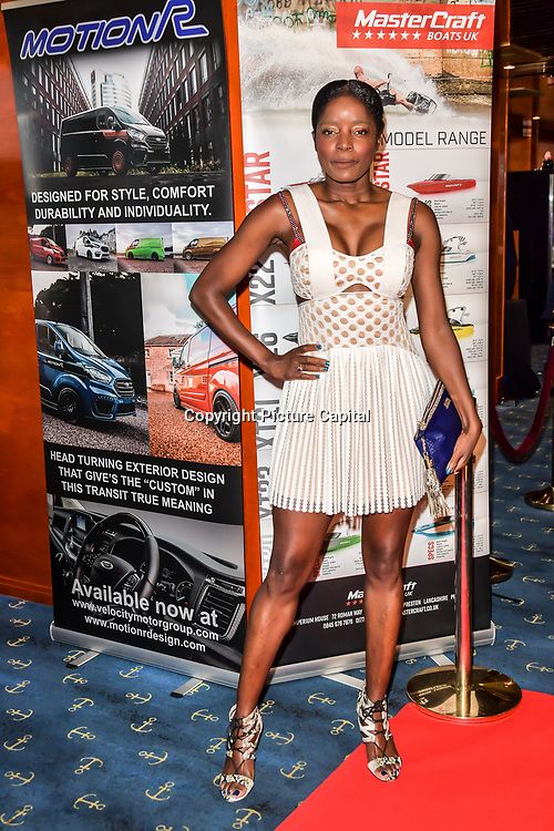 Natalie Robinson attend the Driving holiday experience hosts yacht party at The Sunborn Yacht, Royal Victoria Dock on 31 May 2019, London, UK.