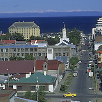 Punta Arenas, the leading port city on the Strait of Magellan, in Patagonia, Chile.