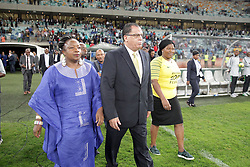 20112018 (Durban)<br /> SAFA president Danny Jordan after a match were Bafana Bafana and Paraguay have drawn 1-1 in the Nelson Mandela Challenge match played at Moses Mabhida Stadium in Durban on Tuesday evening.<br /> Picture: Motshwari Mofokeng/African News Agency (ANA)