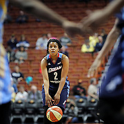 UNCASVILLE, CONNECTICUT- MAY 05:  Niya Johnson #2 of the Atlanta Dream in action during the Atlanta Dream Vs Chicago Sky preseason WNBA game at Mohegan Sun Arena on May 05, 2016 in Uncasville. (Photo by Tim Clayton/Corbis via Getty Images)