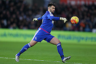 goalkeeper Boaz Myhill of West Bromwich Albion in action. Barclays Premier league match, Swansea city v West Bromwich Albion at the Liberty Stadium in Swansea, South Wales  on Boxing Day Saturday 26th December 2015.<br /> pic by  Andrew Orchard, Andrew Orchard sports photography.