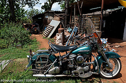 Panhead Out Back. Bauta, Cuba 2009<br /> <br /> Limited Edition Print from an edition of 30. Photo ©2009 Michael Lichter.