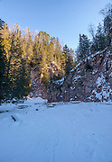 Image from the frozen Devil Track River on a cold January morning; Grand Marais, Minnesota, USA