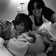 Jen, with Jane by her side delivers a baby girl, Luca in a hospital in Sydney, Australia, on 21st January 2009. Photo by Tim Clayton..