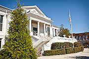 Historic county courthouse in Laurens, South Carolina.