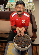 "Indian techie nails it! Busts puncture mafia, Man collects 50kg nails from roads in two years<br /> <br /> Benedict Jebakumar, a systems engineer working in Bengaluru, has collected over 50 kgs of nails scattered along roads, most of them deliberately planted by nearby puncture shops to benefit their business.<br /> <br /> In 2014 when he first moved to the city, the 44-year-old would often have to deal with a punctured tyre whenever he would take the Outer Ring Road to get back to his house in Banashankari from his office in Bellandur or vice-versa. <br /> <br /> While at first, he didn't think much of it, but when it began to become a common occurrence it dawned on him that the puncture was always caused by nails that were situated close to puncture shops.<br /> <br /> ""I have been witnessing the wilful act of repeated scattering of nails on the outer ring road (ORR) in Bangalore since 2012. This is done by the miscreants to make money out of fixing the flat tyre caused by their nails at an exorbitant rates. I have been informing the concerned authorities for remedial action but the problem still persists,"" Jebakumar said in a petition that he has started online to tackle the menace.<br /> <br /> When authorities didn't do anything about the problem, he decided to take the matter in his own hands and started combing roads with his bare hands but later bought a magnetic stick to collect the nails.<br /> <br /> Jebakumar started a Facebook page called `My Road, My Responsibility' in 2014 to create awareness about the menace. He posts photos of the nails he collects in a day and also shocking videos of roads laden with dozens of nails.<br /> <br /> ""Sometimes I feel wretched when I think on how long I need to keep doing this same scavenging work with (no) result from the authorities. But if I don't continue, my own vehicle is sure to get flat since I can never drive in the middle of the road. Also, when I see stranded vehicles due to flat tyre, I feel that my action reduces such mishaps to some extent,"" he says.<br /> ©Newslions/Exclusivepix"