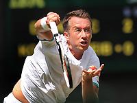 Tennis - 2019 Wimbledon Championships - Week One, Monday (Day One)<br /> <br /> Men's Singles, 1st Round: Novak Djokovic v Philipp Kohlschreiber (GER)<br /> <br /> Philipp Kohlschreiber (GER) on Centre Court <br /> <br /> COLORSPORT/ANDREW COWIE