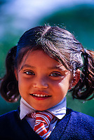 School girl near Darjeeling, West Bengal, India