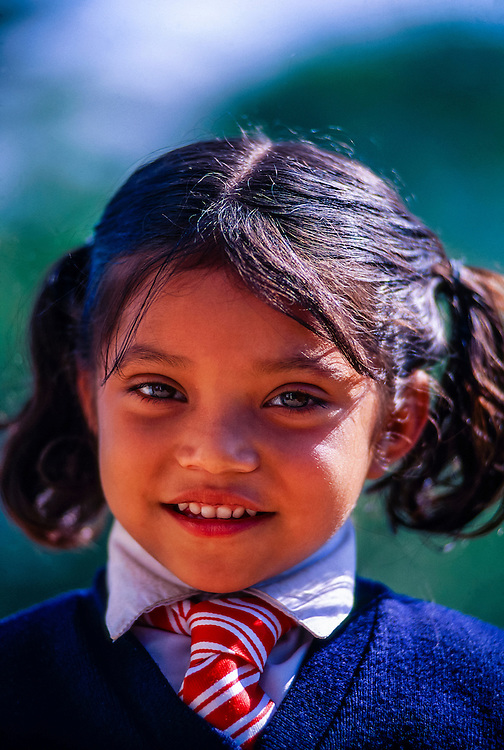 School girl near Darjeeling, West Bengal, India