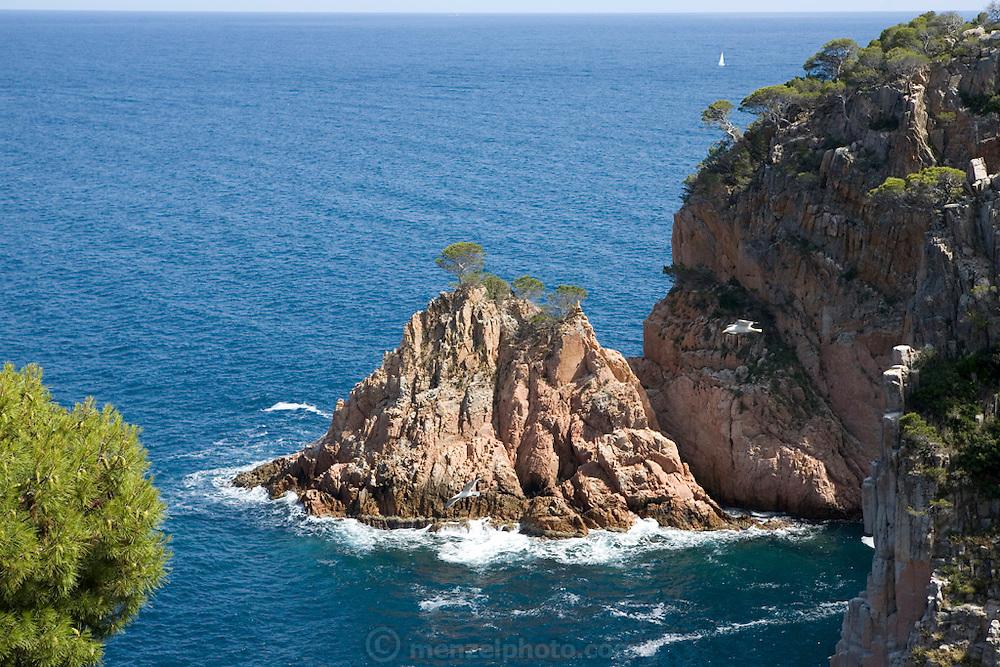View from room 208 of the Parador de Aigua Blava on the Costa Brava, Spain.