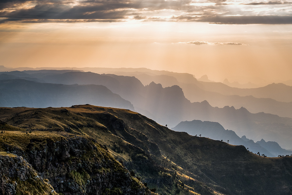 The Simien mountains are one of the main African massifs; they are made up of several plateaus, separated from each other by wide river valleys, which are home to a unique endemic flora and fauna. Photo by Lorenz Berna