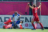 ANTWERPEN -  Scotland-England . Belfius Eurohockey Championship (men) hockey. Will Calnan scored .    COPYRIGHT KOEN SUYK