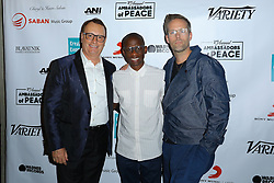 David Renzer, Troy Carter and Justin Tranter at Creative Community For Peace 2nd Annual 'Ambassadors Of Peace' Gala held at Los Angeles on September 26, 2019 in Private Residence, California, United States (Photo by © Jc Olivera/VipEventPhotography.com