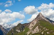 Svinjak, a prominent mountain near Bovec seen from the Juliana Trail and Alpe Adria Trail, Slovenia © Rudolf Abraham
