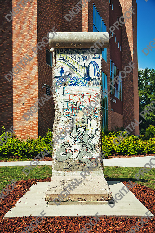 Berlin Wall segment at Kennesaw State University at daytime in Georgia USA.