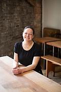 Brooklyn, NY - April 23, 2019: Photos of Naama Tamir, owner of Lighthouse in South Williamsburg. On Monday, May 13th, Slow Food New York City will honor Naama as its 2019 Snailblazer for her leadership in sustainable practices and food education.<br /> <br /> Photo by Clay Williams for Slow Food NYC..<br /> <br /> © Clay Williams / http://claywilliamsphoto.com