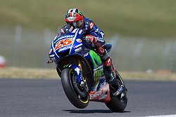 June 2, 2017 - Scarperia, Italy - Maverick VINALES SPA Movistar Yamaha MotoGP during the Day1 Free Practice at the Mugello International Cuircuit for the sixth round of MotoGP World Championship Gran Premio d'Italia Oakley  on June 2, 2017 in Scarperia, Italy. (Credit Image: © Fabio Averna/NurPhoto via ZUMA Press)