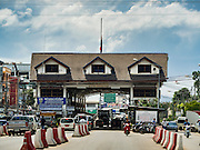 25 OCTOBER 2016 - MAE SOT, TAK, THAILAND:  The Thai customs and immigration post in Mae Sot on the Thai side of the border with Myanmar. The Thai-Myanmar border between Mae Sot and Myawaddy has become an important commercial crossing as democratic reforms in Myanmar (Burma) has created new economic opportunities in Thailand.   PHOTO BY JACK KURTZ