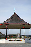 Bandstand on the seafront in the winter at the seaside town of Bray in Wicklow Ireland