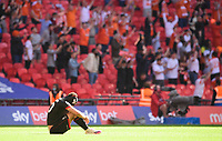 Lincoln City's Brennan Johnson looks dejected at the final whistle<br /> <br /> Photographer Chris Vaughan/CameraSport<br /> <br /> The EFL Sky Bet League One Play-Off Final - Blackpool v Lincoln City - Sunday 30th May 2021 - Wembley Stadium - London<br /> <br /> World Copyright © 2021 CameraSport. All rights reserved. 43 Linden Ave. Countesthorpe. Leicester. England. LE8 5PG - Tel: +44 (0) 116 277 4147 - admin@camerasport.com - www.camerasport.com