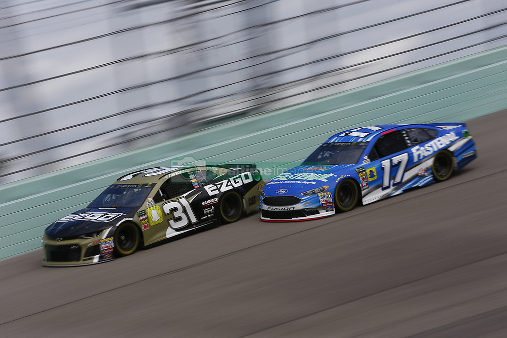 November 17, 2018 - Homestead, Florida, U.S. - Ryan Newman (31) takes to the track to practice for the Ford 400 at Homestead-Miami Speedway in Homestead, Florida. (Credit Image: © Justin R. Noe Asp Inc/ASP)