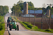 Take Your Tractor To School Day at Denmark High Schol, in Denmark, Wisconsin  Photo by Mike Roemer