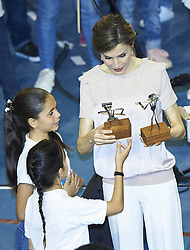 April 24, 2017 - Las Palmas De Gran Canaria, Spain - 24-04-2017 Batan Queen Letizia during the presentation of the 'Orchestrated neighborhoods' at El Batan Stadium in Las Palmas de Gran Canaria, Spain..No Spain.© PPE/Thorton.Credit: PPE/face to face.- No Rights for Netherlands  (Credit Image: © face to face via ZUMA Press)