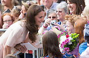 TRURO- UK- 1st Sept 2016: The Duke and Duchess of Cambridge visit Truro Cathedral at the start of a 2 day tour of Cornwall and the Scilly Isles.<br /> ©Ian Jones/Exclusivepix Media
